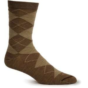 Goodhew LC4W850 Womens Argyle Merino Wool Crew Sock in Charcoal Color