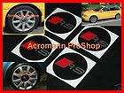RS Center Cap Decal Sticker VW Audi S3 RS4 RS6 A4 A3 S4