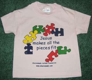 Girls XS 2 4 toddler Christian Autism Awareness PINK t shirt