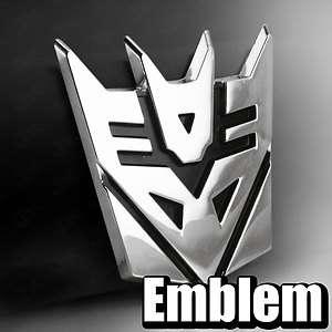 3D Car Chrome Transformers Decepticon logo Emblems