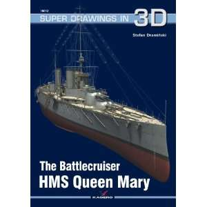 Super Drawings 3D: The Battlecruiser HMS Queen Mary: Toys & Games