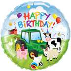Animals Green John Deere Tractor 18 Birthday PARTY Balloon