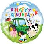 Animals Green John Deere Tractor 18 Birthday PARTY Balloon