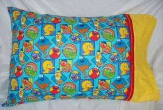 Personalized Pillowcase, SESAME STREET ELMO, BERT, ERNIE, BIG BIRD
