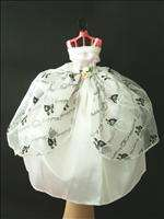 New Wedding Bridal Dress Gown for Barbie Doll White B06