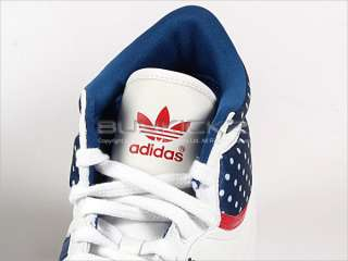 Adidas Top Ten Hi Sleek W White/Lone Blue/Light Scarlet Sports