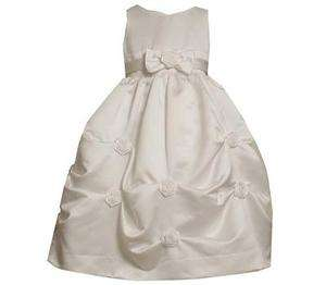 Bonnie Jean Girls White Satin First Communion Easter Wedding Flower