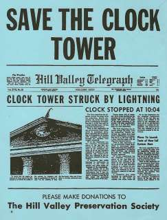 Back To The Future Save The Clock Tower Flyer Prop 1985