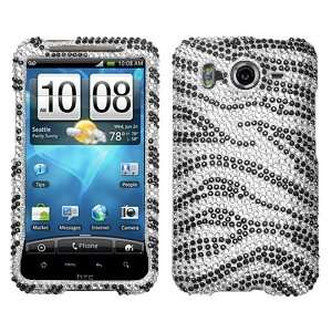 Black Zebra Beling Skin Diamante Protector Cover Case for