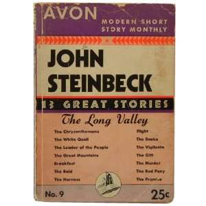 The Long Valley Fourteen Great Short Stories by John Steinbeck John