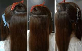 100% Human Hair Velcro Ponytail Band Instant Extension HIGH QUALITY