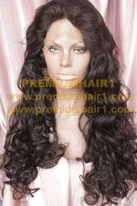 Full Lace Human Hair Indian Hair Remi Remy Wig 28/34 Black #1b EK53A