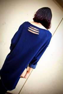 New Korea Women long loose top T shirts 387R Some Holes long sleeves