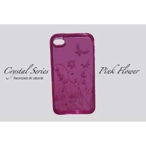 iPhone 4 Pink Flower Crystal Case