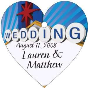 Wedding Favors Las Vegas Wedding Sign Heart Shaped Personalized Thank