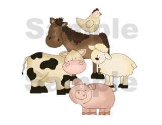 FARM BARNYARD ANIMALS BABY WALL BORDER STICKERS DECALS