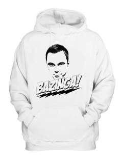 Bazinga Hoodie Sheldon Big Bang Theory T Show Funny Hooded Sweatshirt