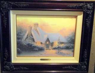 "Thomas Kinkade ""Christmas Tree Cottage"" G/P lith framed"