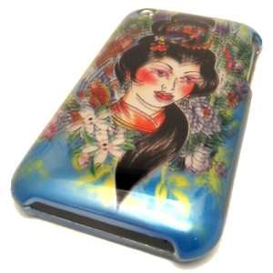 Apple iPhone 3 3G 3GS Japanese Geisha Tattoo Design AT&T