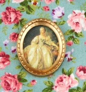 Dollhouse Miniature Picture Noble Woman Wall Art