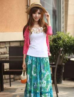 Womens Ladies Sweet Heart Thin Knitted Cardigan 8/10 (6 colors)