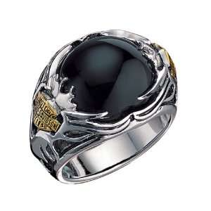 Sterling Silver Harley Davidson Mens Tribal Ring: Jewelry