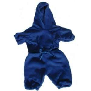 Blue Sweat Suit Clothes for 14   18 Stuffed Animals and