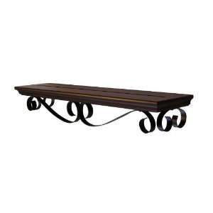 : allen + roth Sienna Bronze Scroll Shelf 27845 24: Kitchen & Dining