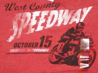 West Coast County Motorcycle Speedway T Shirt NEW