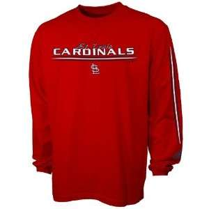 Adidas St Louis Cardinals Red Team Vision Long Sleeve T