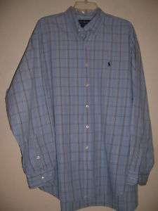 Ralph Lauren BLAKE Mens Dress Shirt  XL  Navy Pony