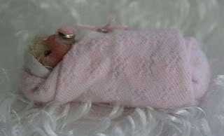 Baby bundle polymer clay sculpt doll ~ Tiny Pixie Baby Bundle