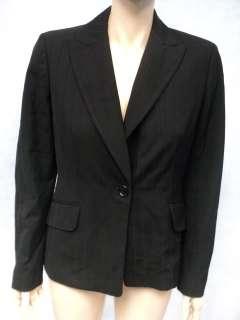 ANN TAYLOR Black Rayon Wool Jacket Blazer Sz 6 Small