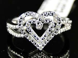 GOLD FINISH DIAMOND WEDDING ENGAGEMENT PROMISE LOVE HEART RING