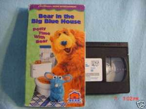 Bear in the Big Blue House   Potty Time with Bear vhs 043396040878