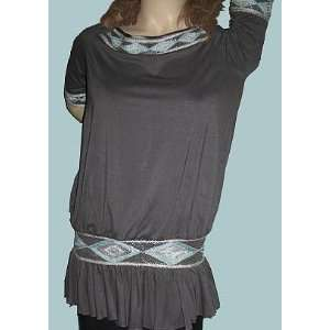 Secret Kanika Kruz Grey Indian Bead Top XS Small: Everything Else