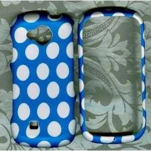 Blue Polka dot Samsung Reality U820 verizon phone hard