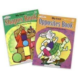 Coloring Book 96 Pages Shapes & Opposites Case Pack 80
