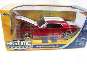 Jada BigTime Muscle 1965 FORD MUSTANG RED 1/24 Diecast Car