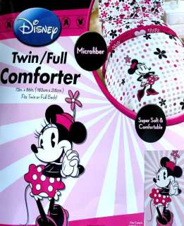 DISNEY MINNIE MOUSE FLORAL FULL COMFORTER SHEETS 5PC BEDDING SET NEW
