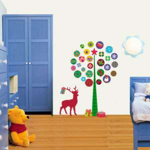 Christmas Polka Dot Tree Wall STICKER Removable Decal