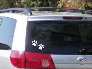 Paw Foot Prints Dog Decal Bumper Sticker Car Window