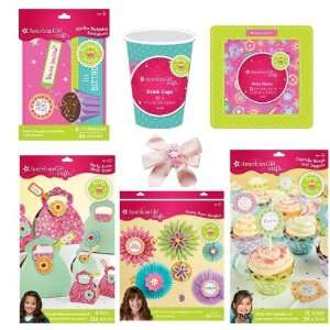 Item Bundle Kids American Girl Party Supplies Set for 12 Invitations