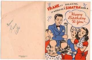 1950s Vintage Birthday Card Frank Sinatra Swooning Ladies Interesting