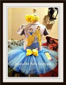 Cinderella, Belle, Birthday Disney Princess Tutu Set 12 18m Dress