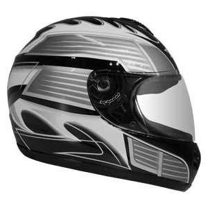 Large DOT Black Full Face Street Bike Motorcycle Helmet Automotive
