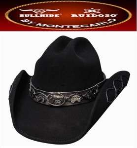 NEW BULLHIDE Hats JESSE Wool Western Cowboy Hat Black