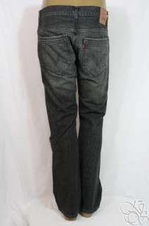 LEVIS JEANS 527 Boot Cut Straight Fit Tainted Black Denim Mens Pants