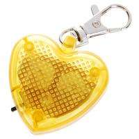 Cute Heart Flashing LED Pet dog Collar Pendant Light tag