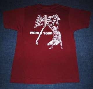 VINTAGE SLAYER WORLD TOUR T  SHIRT 1983 M